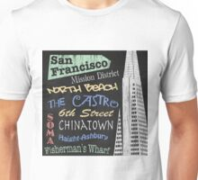 San Francisco Tourism Poster Unisex T-Shirt