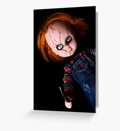 Evil Horror Doll Greeting Card