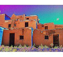 Taos Pueblo 2 (interpretation) Photographic Print