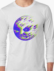 Neon Majora's mask moon  Long Sleeve T-Shirt