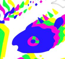 Neon Majora's mask moon  Sticker
