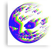 Neon Majora's mask moon  Metal Print