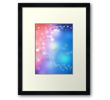 3d two colors winter holiday background 1 Framed Print