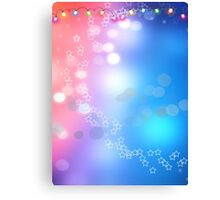 3d two colors winter holiday background 1 Canvas Print