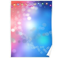 3d two colors winter holiday background 1 Poster