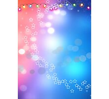 3d two colors winter holiday background 1 Photographic Print