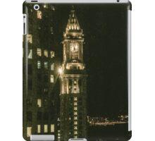 City of Boston Skyline at night iPad Case/Skin