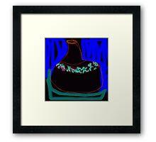 mums vase Framed Print
