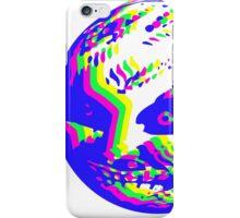 Neon Majora's mask moon  iPhone Case/Skin
