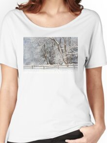Winter - Westfield, NJ - Snow Day Women's Relaxed Fit T-Shirt