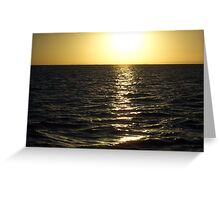 Afternoon gold Greeting Card