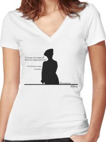 Love Conquers Quite A Lot Women's Fitted V-Neck T-Shirt