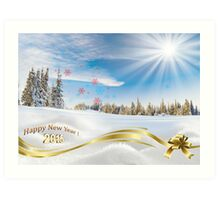 Great background image for creating Holiday Greeting postcards or computer wallpapers Art Print