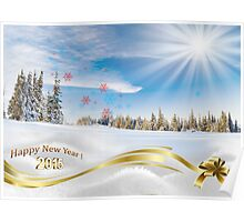 Great background image for creating Holiday Greeting postcards or computer wallpapers Poster