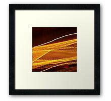 Golden light trail abstract photography Framed Print