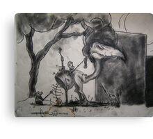 Charcoal Fantasy Canvas Print