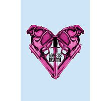 Love Is Death Heart Weapons Photographic Print