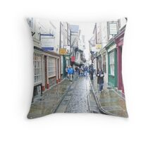 Shambles In The Rain Throw Pillow