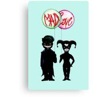 Clown & Quinn Balloons Mad Love Canvas Print