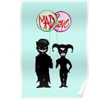 Clown & Quinn Balloons Mad Love Poster