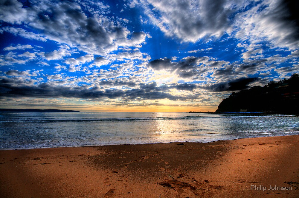 Footprints in The Sand - Sydney Beaches - Palm Beach, - The HDR Series - Sydney,Australia by Philip Johnson