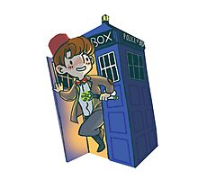 Doctor Who - sticker Photographic Print