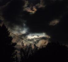 clouded moon by Andrew Turley