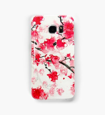 Red Cherry Blossoms Samsung Galaxy Case/Skin