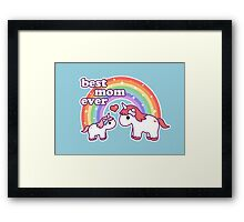 Cute Unicorn Mom Framed Print