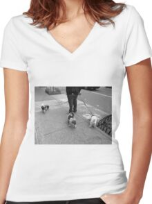 New York Street Photography 36 Women's Fitted V-Neck T-Shirt