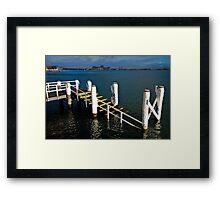 white piers Framed Print