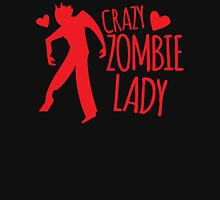 CRazy Zombie Lady Womens Fitted T-Shirt