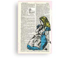 Alice & The Walrus Canvas Print
