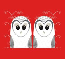 TWIN OWLS PORTRAIT Kids Tee