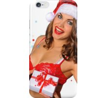 Sexy Santas Helper girl great image on white isolated BG iPhone Case/Skin