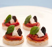 Mini Greek Pizzas by Anna Vegter
