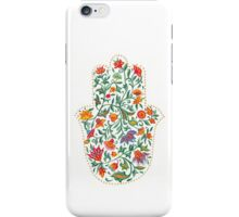 Hamsa with Flowers  iPhone Case/Skin