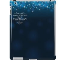 Happy Holidays and Happy New Year deep blue background for postcard poster template iPad Case/Skin