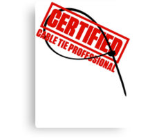 Certified Cable Tie Professional Canvas Print