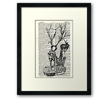 Spaceman and the great deer Framed Print