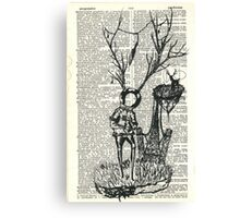 Spaceman and the great deer Canvas Print