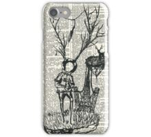 Spaceman and the great deer iPhone Case/Skin