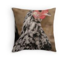 bainy rooster Throw Pillow