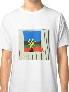 ART INTERIORS, flower pot in window Classic T-Shirt