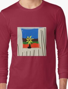 ART INTERIORS, flower pot in window Long Sleeve T-Shirt