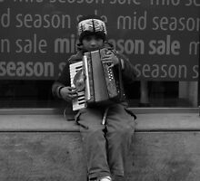 Accordian Player by Rachael Lynch