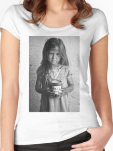 """Children of Tomorrow: Homeless Project"" Women's Fitted Scoop T-Shirt"