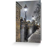 Greenwich Park Gates Greeting Card