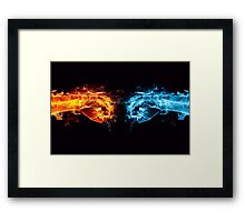 Fiery Fists Framed Print