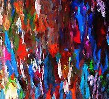 Abstract palette knife paint splatter by druidwolfart